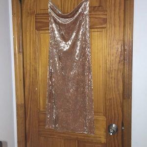 Rose Forever 21 Velvet Dress